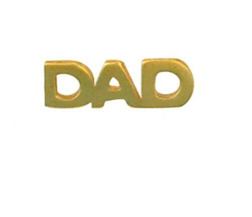Dad Tie Tack Tie Pin Yellow Gold Made To Order in Jewellery Quarter B''ham